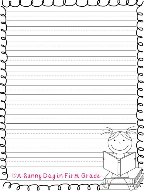letter writing template for grade 4 best images of second grade writing paper printable