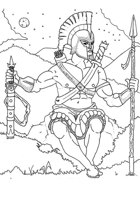 god ares coloring pages hellokids com