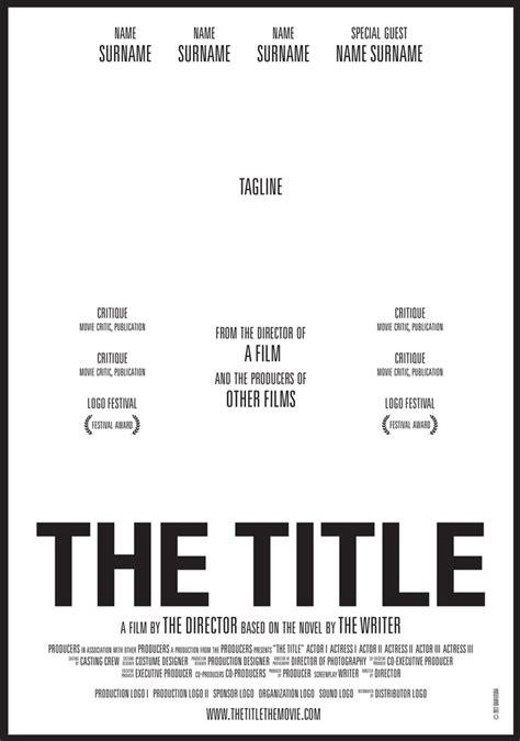 Best 25  Movie poster template ideas on Pinterest