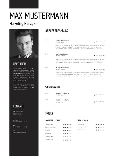 Design Vorlage Cv Muster Lebenslauf 2017 Muster Und Vorlagen Cv Ideas Layout Design And Cv Template