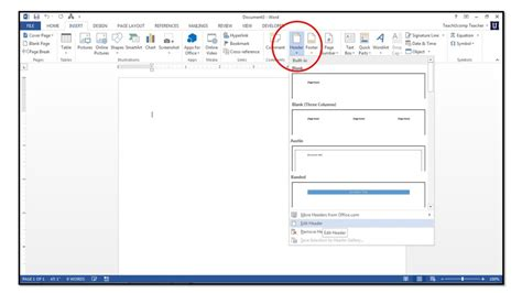 design a header in word how to insert page numbers into headers or footers in word