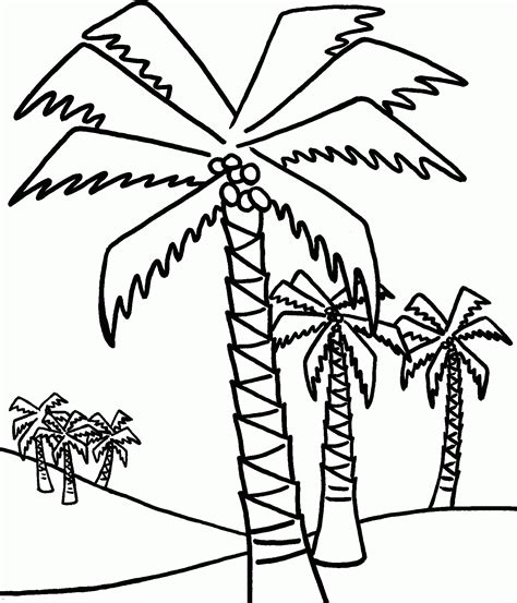Date Tree Coloring Page | palm tree coloring pages to print coloring home