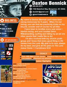 bike racer resume