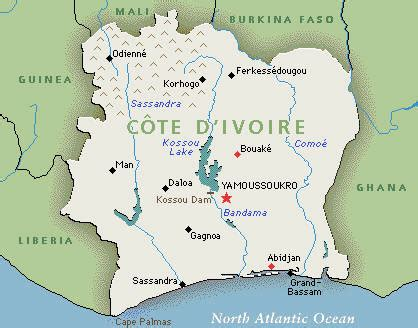 world map ivory coast humanitarian crisis cote d ivoire