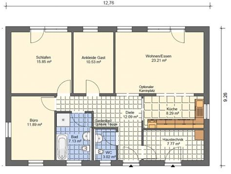 Grundriss Haus 100 Qm by Bungalow Grundrisse 220 Bersicht Mit Vielen Bungalow