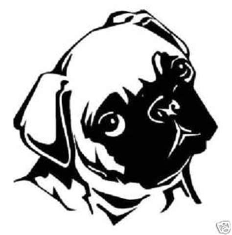 pug stencil pug template printable breeds picture