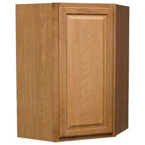 medium oak kitchen cabinets hton bay hton assembled 24x36x12 in diagonal corner