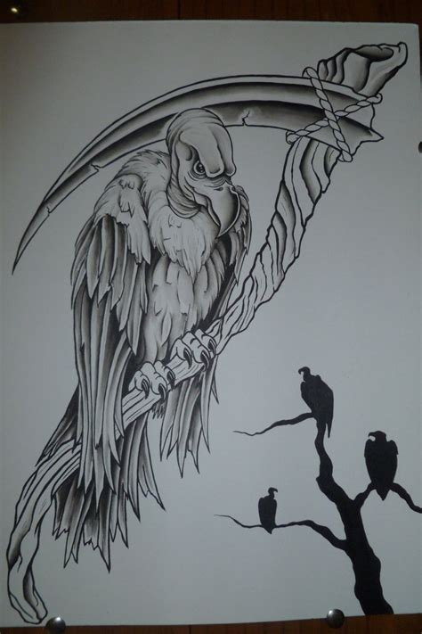 black vulture tattoo 10 vulture design ideas