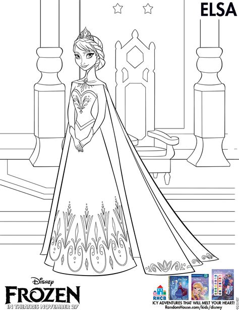 frozen elsa coloring pages printable