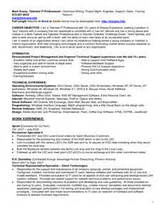 Help Desk Support Specialist Sle Resume by Pmo Support Resume Sales Support Lewesmr