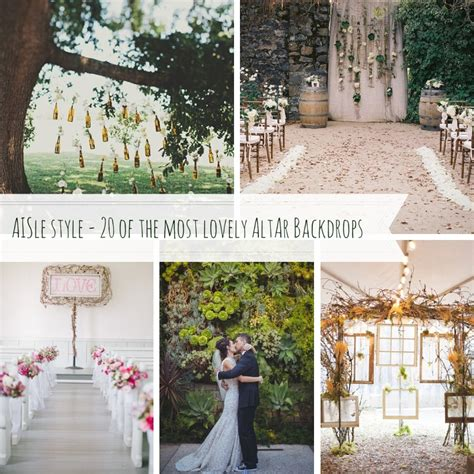 Wedding Backdrop Ideas Vintage by Aisle Decor Altar Backdrops Chic Vintage Brides