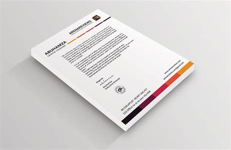 business card letterhead inspiration white letterhead template to complement your business card