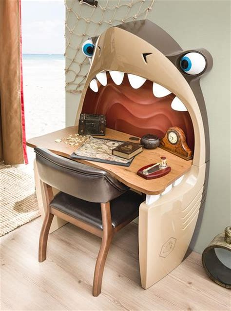 black pirate jaws shark desk  chair neverland furniturecom