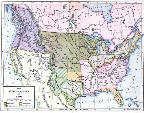 map of the united states in 1840 the united states