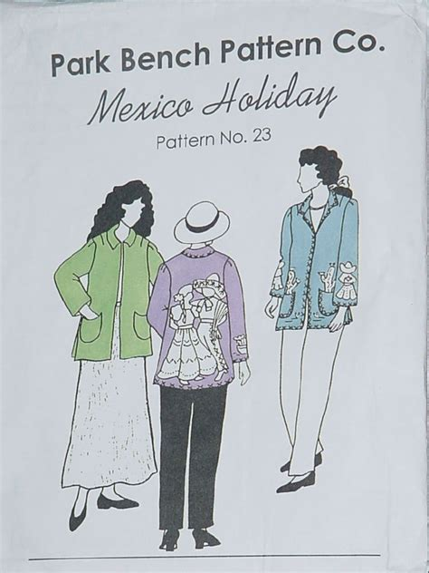 park bench patterns park bench pattern co mexico holiday pattern 23 coat jacket all sizes no 60