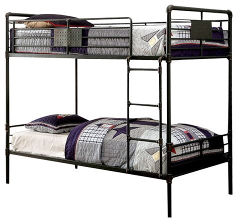 reston metal bunk bed industrial bunk beds by