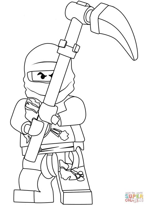 ninjago coloring ninjago cole coloring page free printable coloring pages