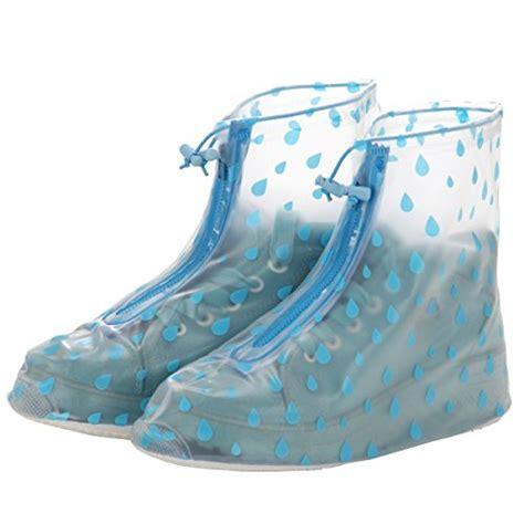 blue raindrops m reusable waterproof guard slip resistant