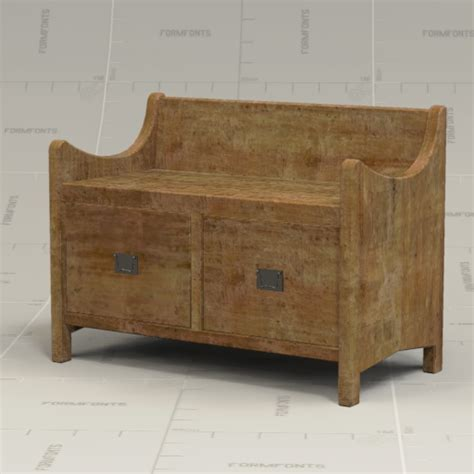 wade bench pottery barn wade bench 3d model formfonts 3d models