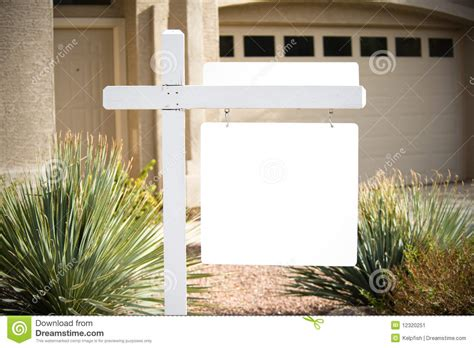 blank home blank home for sale sign stock image image of photography