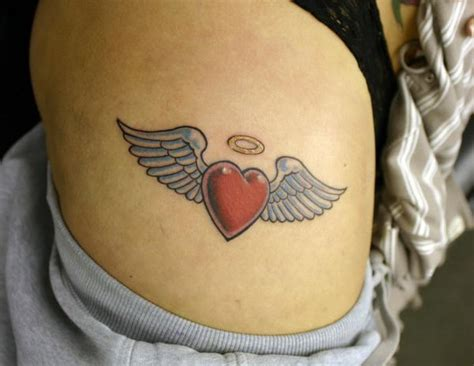 heart with wings tattoos 30 inspiring miscarriage tattoos hative