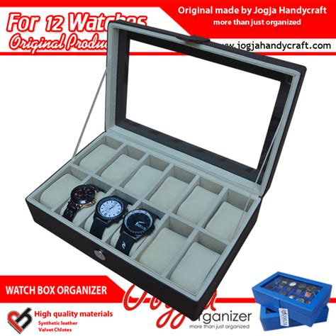 Box Organizer By Ruby Grosir brown box organizer for 12 watches