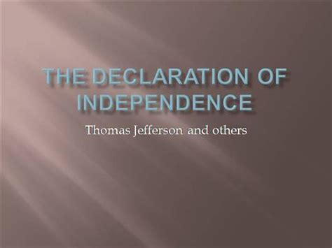 The Declaration Of Independence Authorstream Jefferson Powerpoint Template