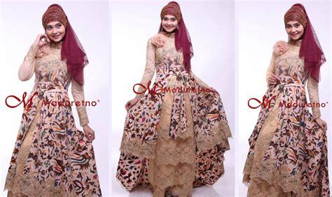 desain gamis islami contoh baju muslim songket islami kebaya songket modern
