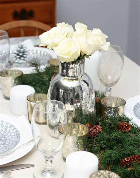 white branches centerpieces centerpieces festive table decoration ideas