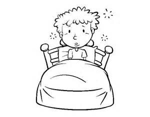 dibujo de ni 241 o en la cama para colorear dibujos net