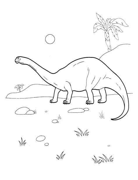 Coloring Page Diplodocus Diplodocus Coloring Page