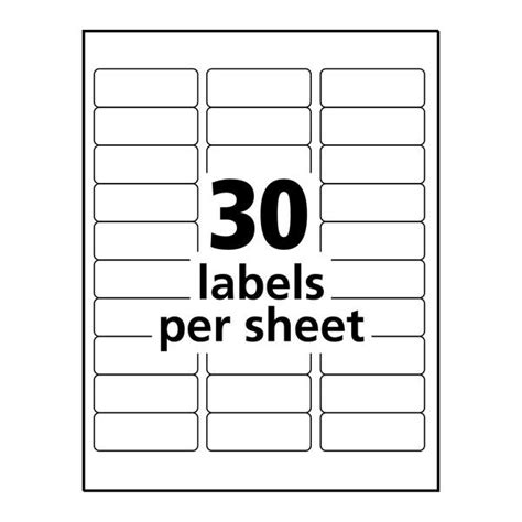 avery a2 card template clear inkjet address labels 1 quot x 2 5 8 quot 300 labels