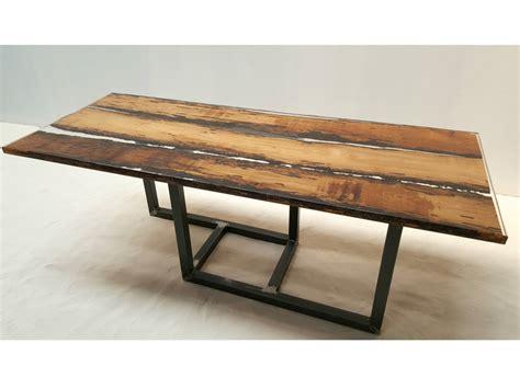 tavolo in resina tavolo in legno di briccola by azimut resine