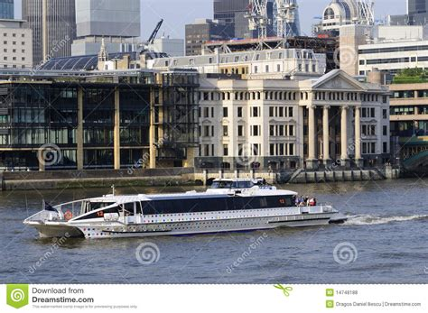 thames river cruise summer timetable one boat on thames river editorial stock photo image
