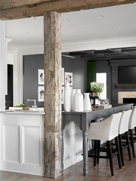 rustic wood beams contemporary kitchen melanie