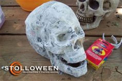 How To Make A Paper Mache Skeleton - paper mache skulls from scratch part 1 187