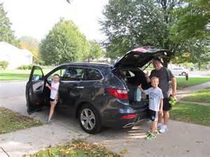 family sized hyundai santa fe a squabble free back seat