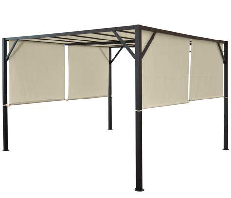 pavillon 4x3m pergola baia garten pavillon 6cm stahl gestell