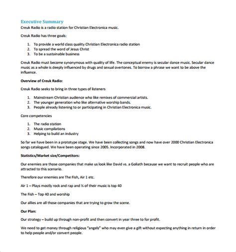 business plan template for startup business plan pdf