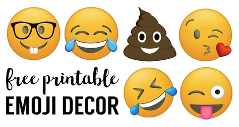 printable emojis large emoji faces printable free emoji printables paper