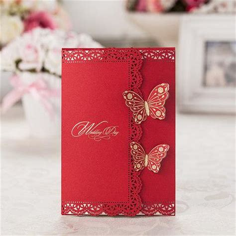 Wedding Invitations Asian Theme by Dhl Asian Theme Laser Cut 3d Butterfly Wedding