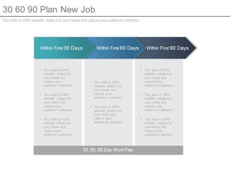 30 60 90 plan new job powerpoint templates powerpoint