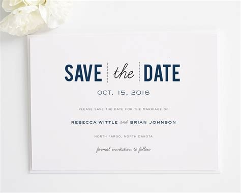 Save The Date by Date Monogram Save The Date Cards Save The Date Cards By