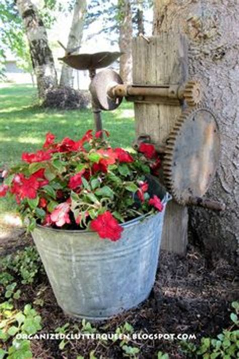garden from junk 1000 images about rustic garden decor on