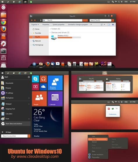 ubuntu themes for windows 8 1 ubuntu theme for win10 skinpack customize your digital