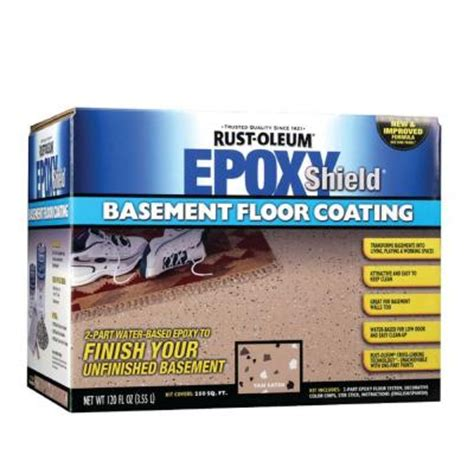 rust oleum epoxy shield 1 gal basement gray floor coating