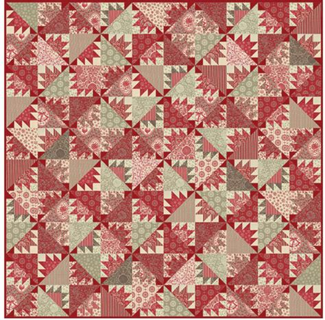 General Fabric Quilt Patterns Pomme De Pin Quilt Pattern By General Using The Joyeux