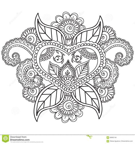 coloring pages for adults vector coloring pages for adults henna mehndi doodles abstract