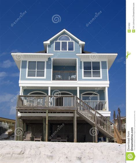 blue beach houses blue beach rental cottage stock photography image 611852