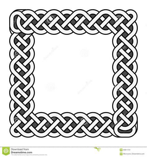 cornici celtiche square celtic knots vector frame in black and